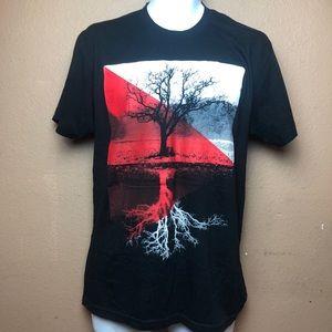 American Apparel Black Tree Sz M T Shirt
